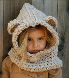 Winter hood for litrle girls