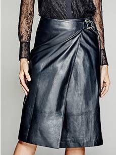 Lourdes Leather Skirt