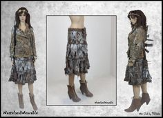 Post APOCALYPTIC SKIRT Mad Max Fury Road SKiRT Fallout Fashion Tattered Size SMALL  Zombie Skirt Wasteland Fashion by WastelandWearable by WastelandWearable on Etsy