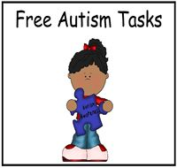 Autism Tasks with printables and activities