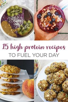 15 high protein recipes to fuel your day with Nutiva Organic Plant Protein Superfood Smoothie Protein Superfood, Plant Protein, Vegan Protein, Protein Foods, Yummy Smoothies, Smoothie Recipes, Gluten Free Recipes, Vegan Recipes, Smoothie Challenge