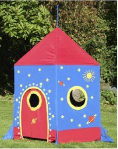 Tienda infantil con forma de cohete espacial y muchos colores. GG3032