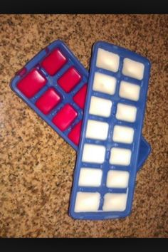 Diy Wax Melts!Get uncented wax or organic beeswax- it's reusable.  You can also  buy oils that smell good or use perfume of your desire.  Melt wax mix you scent then poor into ice tray and let coolPlease like, share, and follow me.