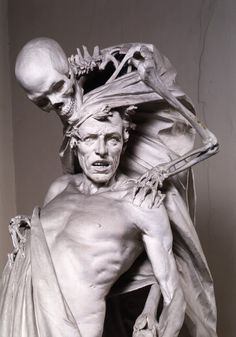 That is Creepy! Rinaldo Carnielo Tenax Vitae cent) An exact copy, because the original was lost among others during the WW II Memento Mori, Cemetery Art, Skull Art, Macabre, Dark Art, Oeuvre D'art, Amazing Art, Awesome, Creepy