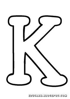 Molde da letra maiúscula K