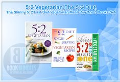 5:2 Vegetarian,The 5:2 Diet,The Skinny 5: 2 Fast Diet Vegetarian Meals for One 3 Books Set. #bookcollection #fastdiet #vegetarianrecipe #vegetarianfood