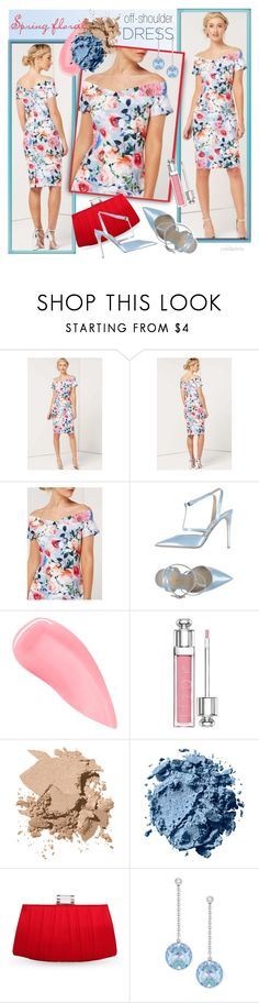 """""""Spring Floral Off-Shoulder Dress"""" by pwhiteaurora ❤ liked on Polyvore featuring Le Silla, Kevyn Aucoin, Christian Dior, Bobbi Brown Cosmetics, Nina and Swarovski"""