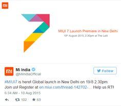 cool tech Xiaomi confirma el lanzamiento mundial de MIUI 7 para el 19 de agosto