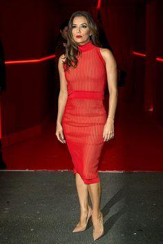 Vestido rojo. Eva Longoria