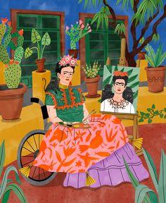 Happy Birthday Frida Kahlo Frida for Larousse Jeunesse Frida. Happy Birthday Frida Kahlo Frida for Larousse Jeunesse Frida for and Frida for Fridah Kahlo, Frida Kahlo Portraits, Frida Kahlo Artwork, Kahlo Paintings, Diego Rivera, Mexican Art, Character Illustration, Illustration Artists, Art History