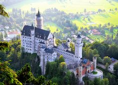 in the evening Neuschwanstein, Bavaria, Germany.The most beautiful castle in the world.The most beautiful castle in the world. Beautiful Castles, Beautiful World, Places To Travel, Places To See, Wonderful Places, Beautiful Places, Germany Castles, Neuschwanstein Castle, Famous Castles