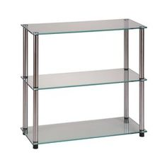 Convenience Concepts Classic Glass Clear Floorstanding Shelf (Common: 28-in; Actual: 28-in)