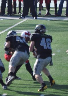 I'm #44 & laying a block to spring my tailback...Love this game.