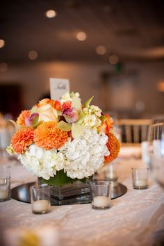To see more fabulous wedding flower ideas: http://www.modwedding.com/2014/11/04/swooning-fabulous-wedding-flower-ideas-heavenly-blooms-part-ii/ #wedding #weddings #wedding_centerpiece photo: Studio EMP