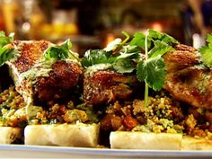 Arabic Food Recipes: Brick Chicken with Apricot Couscous Recipe