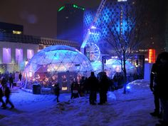 Nuit blanche, 1er mars 2014, Place des festivals, Montréal. Shopping Mall, Festivals, Concert, Place, Ski, Digital Art, Events, Sleepless Nights, Shopping Center