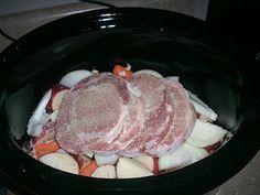 Pork Chops, Potatoes, & Gravy in the crockpot
