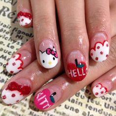 Cute! Hello Kitty #nails