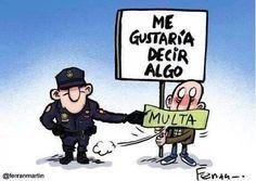 ley Mordaza, de Rajoy... que va a desfilar en París... El mundo anda patas arriba...