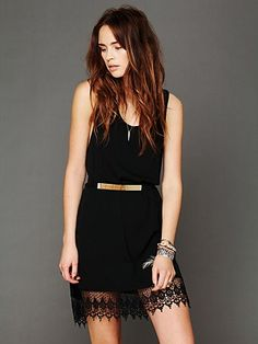 Click for our metal belt picks. This stunner would like amazing with any LBD, and is only $28!