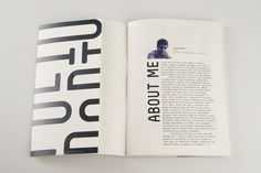 Portfolio Booklet by Emre Ozbek, via Behance