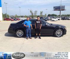 https://flic.kr/p/xvMPdS | #HappyAnniversary to Martin and your 2013 #Chrysler #300 from Carlos Gonzalez at Fenton Honda of Longview! | www.deliverymaxx.com/DealerReviews.aspx?DealerCode=RFWA