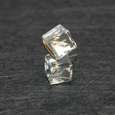 crystal cube earrings $15 from laonato on Etsy