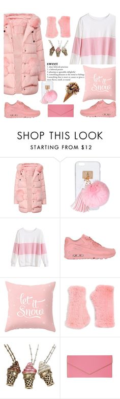 """""""It may be cold, but I want ice cream"""" by kimzarad1 ❤ liked on Polyvore featuring Ashlyn'd, NIKE, Surell, Sweet Romance, Lodis and pinkcoats"""