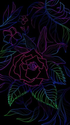 Flower Design Amoled - IPhone Wallpapers