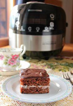 Base al cacao per torta vegana da farcire   Quella lucina nella cucina #chcolate #cake #vegan #redmond #muticooker