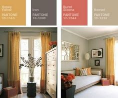 Taking Pantone's Fall Palette to the House Room Colors, House Colors, Home Bedroom, Bedroom Decor, Master Bedroom, Bedrooms, Pantone, My Living Room, Living Spaces