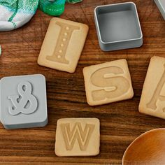 Letter Press Cookie Cutters, Pastry Cutters, Homewares, Interiors