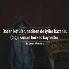 Bazen kötüler, nadiren iyiler kazanır. Çoğu zaman herkes kaybeder.  Murat Menteş #alıntı #alıntılar #alıntıdır #alıntısözler#sözler #anlamlısözler #güzelsözler #manalısözler #özlüsözler #alıntı #alıntılar #alıntıdır #alıntısözler #edebiyat #poem #literature #kitapalinti #kitapalintilari #kitap #bookstagram #okumahalleri #like #alinti #instagram #altinicizdiklerim#ayrac #kitapkokusu #kitapaski #kitapkurdu #edebiyat #kitapalintisi #oku #okumakguzeldir #okumahalleri #quote #kitaptutkusu