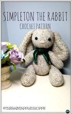 Crochet Amigurumi Simpleton the Rabbit Easter Bunny Toy Free Patterns