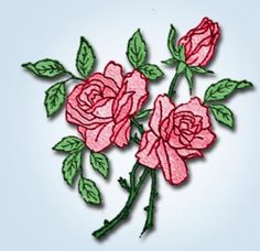 1920s Original Stunning Standard Roses and Violets Transfer | eBay