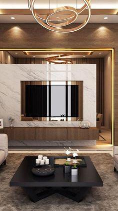 Living Room Tv Unit Designs, Ceiling Design Living Room, Tv Wall Design, Family Room Design, Home Room Design, Tv Unit For Living Room, Modern Ceiling Design, Living Rooms, Modern Tv Room