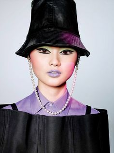 Cong He photographed by Richard Burbridge for Vogue China, February 2017. Styled by Hannes Hetta, with hair by Yannick D and makeup by Peter Philips.