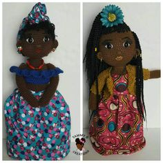 Crochet Doll Black African Americans 67 New Ideas Irish Crochet, Crochet Yarn, Crochet Toys, American Girl Crochet, African American Girl, Crochet Dolls Free Patterns, Crochet Doll Pattern, African Inspired Clothing, Doll Crafts