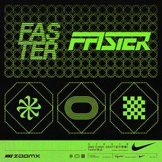 1079 - Repost - Last Part of the Nike Project. The Final Words «Faster Graphic Design Branding, Graphic Design Posters, Typography Design, Logo Design, Fast Logo, Typographic Logo, Visual Communication, Design Reference, Retail Design
