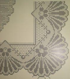 Crochet Art, Crochet Motif, Crochet Hooks, Crochet Patterns, Filet Crochet Charts, Crochet Borders, Crochet Curtains, Crochet Tablecloth, Fillet Crochet