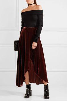 Reformation | Velvet wrap skirt | NET-A-PORTER.COM