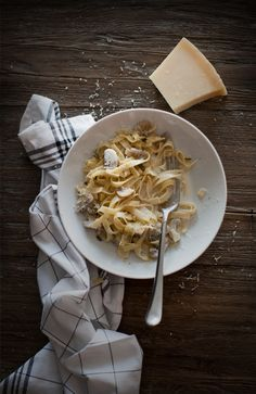 Tagliatelle With Mushroom Cream Sauce | Gourmet Kitchen Tales