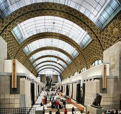 Musee D'Orsay - a train station converted into an impressionist art museum - my favoritist museum in Paris!
