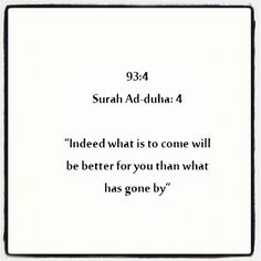 What is to come is better ..