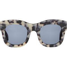 Illesteva Hamilton Matte Tortoise Sunglasses (405 AUD) ❤ liked on Polyvore featuring accessories, eyewear, sunglasses, glasses, multi, tortoiseshell glasses, tortoise shell sunglasses, tortoiseshell sunglasses, acetate glasses and tortoise sunglasses