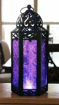 All the sh - Elegant Purple Table/hanging Hexagon Moroccan Candle Lantern Holders