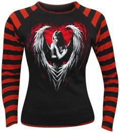 Image de Tee Shirt Femme Manches Longues Spiral DARK WEAR - Angel Heart