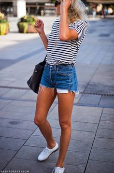 denim, stripes and these shoes