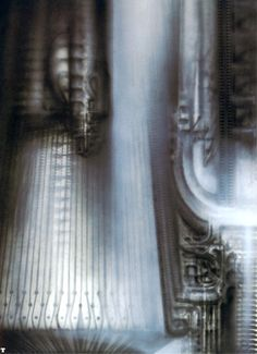 HR Giger | biomechanical landscape 06
