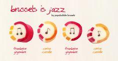 bonbons avec notes de musique